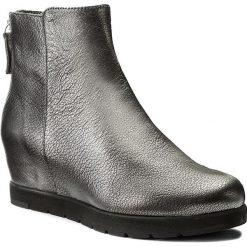 Botki UNISA - Creso Cmt Black. Szare buty zimowe damskie marki Unisa, ze skóry, na obcasie. W wyprzedaży za 389,00 zł.
