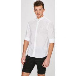 Tommy Hilfiger - Koszula. Szare koszule męskie TOMMY HILFIGER, l, z bawełny, button down, z długim rękawem. W wyprzedaży za 299,90 zł.
