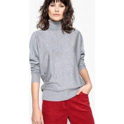 Sweter z golfem. Szare golfy damskie marki La Redoute Collections, m, z bawełny, z kapturem. Za 167,96 zł.
