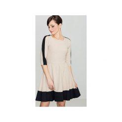 Sukienka K057 Czarny. Czarne sukienki na komunię Lenitif, l, rozkloszowane. Za 139,00 zł.