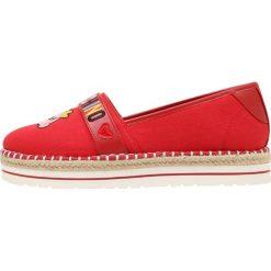 Love Moschino PATCH  Espadryle red. Szare espadryle damskie marki Love Moschino, z materiału. W wyprzedaży za 415,20 zł.