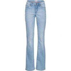 Dżinsy ze stretchem BOOTCUT bonprix jasnoniebieski. Niebieskie jeansy damskie bootcut marki bonprix. Za 89,99 zł.