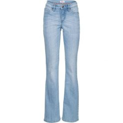 Dżinsy ze stretchem BOOTCUT bonprix jasnoniebieski. Niebieskie jeansy damskie bootcut bonprix. Za 89,99 zł.