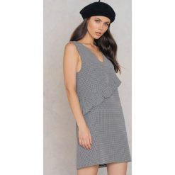 Sukienki: Trendyol Sukienka w kratkę z falbanką – Multicolor