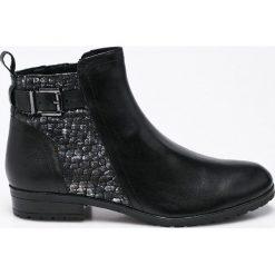 Caprice - Botki. Szare buty zimowe damskie marki Caprice, z gumy. W wyprzedaży za 179,90 zł.