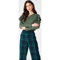 Bluzki asymetryczne: Rut&Circle Bluzka z falbankami Penny - Green
