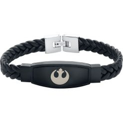Star Wars Rebel Logo Bransoletka z ekoskóry czarny. Czarne bransoletki męskie marki Star Wars, metalowe. Za 144,90 zł.