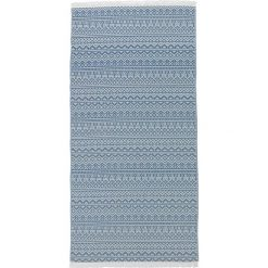 Chusta hammam w kolorze niebieskim - 180 x 100 cm. Czarne chusty damskie marki Hamamtowels, z bawełny. W wyprzedaży za 65,95 zł.