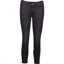 """Dżinsy """"Jasmin"""" - Slim fit - w kolorze czarnym. Niebieskie spodnie z wysokim stanem marki Mustang, z aplikacjami, z bawełny. W wyprzedaży za 195,95 zł."""