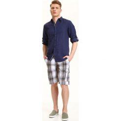 KOSZULA DŁUGI RĘKAW MĘSKA REGULAR FIT. Szare koszule męskie na spinki Top Secret, na lato, m, z długim rękawem. Za 59,99 zł.