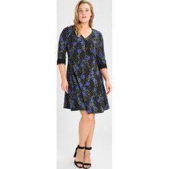 Sukienki hiszpanki: Dorothy Perkins Curve FLORAL 3/4 FIT FLARE Sukienka z dżerseju black