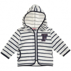 Garnamama Sweterek Chłopięcy 62 Biały/Niebieski. Białe swetry chłopięce Garnamama, z bawełny. Za 35,00 zł.