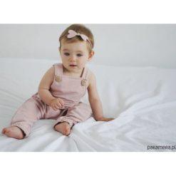 Spodnie niemowlęce: Ogrodniczki BRUDNY RÓŻ