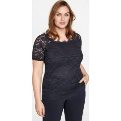 Bluzki damskie: Elastyczna koronkowa bluzka