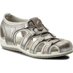 Sandały GEOX - D Sand.Vega D D62R6D 0BN15 C0742  Lt Grey/Off White. Czerwone sandały dziewczęce marki Born2be, z materiału, z otwartym noskiem, na zamek. Za 399,00 zł.