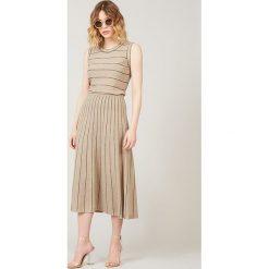 Spódnice wieczorowe: Spódnica w kolorze beżowym