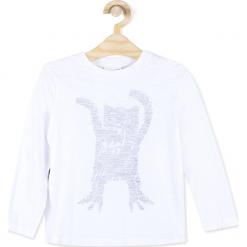 Koszulka. Białe t-shirty chłopięce z długim rękawem marki UP ALL NIGHT, z bawełny. Za 34,90 zł.