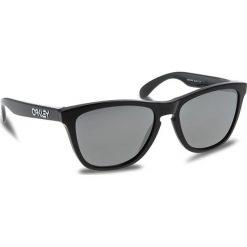 Okulary przeciwsłoneczne OAKLEY - Frogskins OO9013-C455 Polished Black/Prizm Black Iridium. Czarne okulary przeciwsłoneczne damskie aviatory Oakley. W wyprzedaży za 419,00 zł.