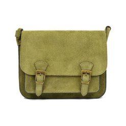 Torebki klasyczne damskie: Skórzana torebka w kolorze zielonym – (S)21 x (W)26 x (G)8 cm