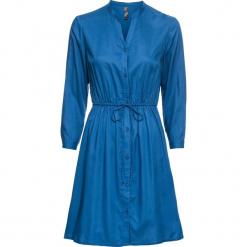 Sukienka koszulowa bonprix niebieski. Niebieskie sukienki balowe marki bonprix, z koszulowym kołnierzykiem, koszulowe. Za 109,99 zł.