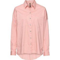 Bluzka z nadrukiem bonprix dymny różowy. Czerwone bluzki asymetryczne bonprix, z nadrukiem. Za 49,99 zł.