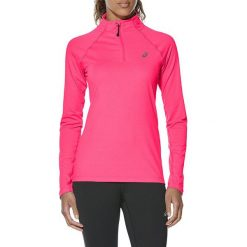 Bluzy rozpinane damskie: Asics Bluza damska LS 1/2 Zip Jersey różowa r. L (141647-6039)