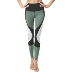 Spodnie damskie: Legginsy damskie 2E Okapi Dark Jungle zielono-białe r. M