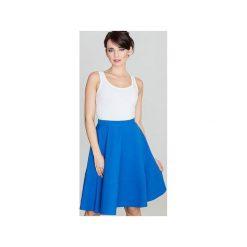 Spódnica K055 Niebieski. Niebieskie spódniczki rozkloszowane Lenitif, l, w paski. Za 89,00 zł.