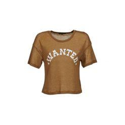 T-shirty z krótkim rękawem American Retro  FRED CROPPED. Brązowe t-shirty damskie American Retro. Za 287,20 zł.