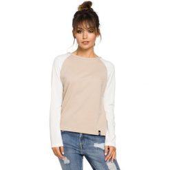 CARTER Bluzka z rękawami z tkaniny - beżowa. Brązowe bluzki asymetryczne BE, l, z dzianiny, biznesowe. Za 109,00 zł.