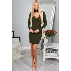 Sukienki: Khaki Sukienka 1020