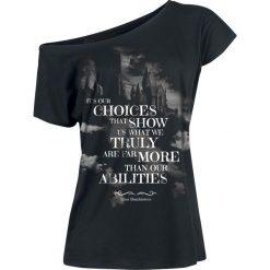 Harry Potter Choices Koszulka damska czarny. Czarne bluzki asymetryczne Harry Potter, l, z nadrukiem, z dekoltem w łódkę. Za 79,90 zł.