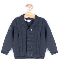 Sweter. Brązowe swetry chłopięce UP ALL NIGHT, z bawełny. Za 39,90 zł.