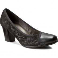 Półbuty COMFORTABEL - 730378 Schwarz 1. Czarne creepersy damskie Comfortabel, z materiału, eleganckie, na obcasie. W wyprzedaży za 239,00 zł.