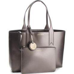 Torebka EMPORIO ARMANI - Y3D081 YH15A 86539 Steel/Black. Szare torebki klasyczne damskie marki Emporio Armani, l, z nadrukiem, z bawełny, z okrągłym kołnierzem. Za 689,00 zł.