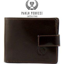 Brązowy Ekskluzywny portfel męski Paolo Peruzzi. Brązowe portfele męskie Paolo Peruzzi, ze skóry. Za 159,00 zł.