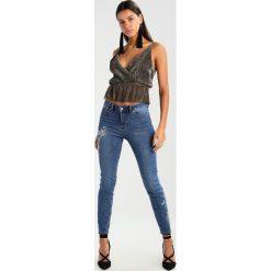 New Look FLORAL EMBELLISHED SASHA Jeansy Slim Fit mid blue. Czarne jeansy damskie marki New Look, z materiału, na obcasie. Za 209,00 zł.