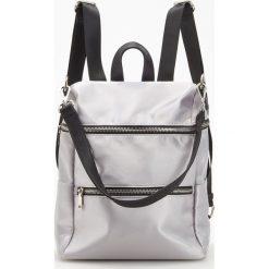 Plecaki damskie: Srebrny plecak - Jasny szar