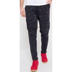Spodnie dresowe męskie: Spodnie dresowe męskie SPMD213 – ciemny szary melanż