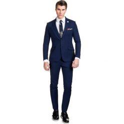 Garnitur LEONARDO GANE000049. Niebieskie garnitury Giacomo Conti, z lycry. Za 899,00 zł.