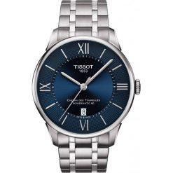 RABAT ZEGAREK TISSOT T-Classic T099.407.11.048.00. Niebieskie zegarki męskie TISSOT, ze stali. W wyprzedaży za 2992,00 zł.