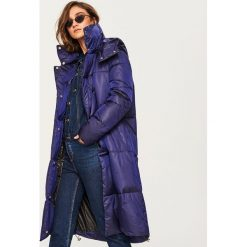 Pikowany płaszcz - Niebieski. Niebieskie płaszcze damskie pastelowe Reserved. Za 349,99 zł.