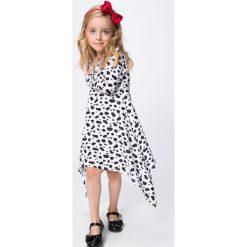 Sukienki dziewczęce: Biała Sukienka z Długim Rękawem NDZ8187