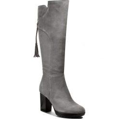 Kozaki ANN MEX - 7775 11D Szary. Szare buty zimowe damskie marki Ann Mex, ze skóry, na obcasie. W wyprzedaży za 359,00 zł.