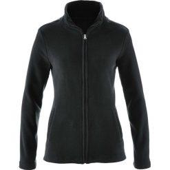 Bluza rozpinana z polaru z wpuszczanymi kieszeniami bonprix czarny. Czarne bluzy polarowe bonprix. Za 37,99 zł.