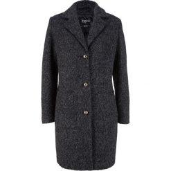 Płaszcz boucle bonprix antracytowy melanż. Szare płaszcze damskie bonprix, melanż. Za 239,99 zł.