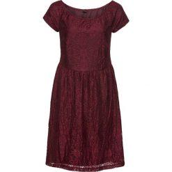 Sukienki: Sukienka koronkowa z odsłoniętymi ramionami: must have bonprix czerwony klonowy