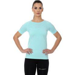 Bluzki sportowe damskie: Brubeck Koszulka damska z krótkim rękawem Athletic miętowa r. XL (SS11080)