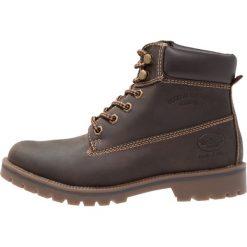 Dockers by Gerli Botki sznurowane choco. Brązowe buty zimowe damskie Dockers by Gerli, z materiału, na sznurówki. W wyprzedaży za 255,20 zł.