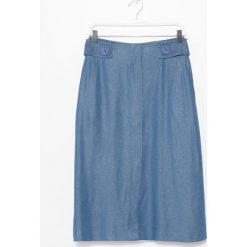 Simple - Spódnica. Szare spódniczki Simple, s, z denimu, midi, rozkloszowane. W wyprzedaży za 299,90 zł.